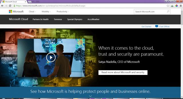 Microsoft-cloud-service