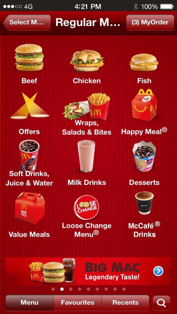 McDonald-menu