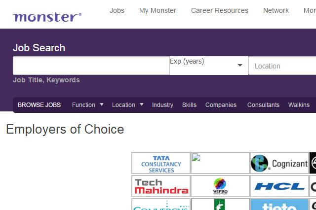 Monster-search-job