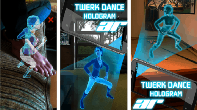 AR Hologram Twerk Dance Girl